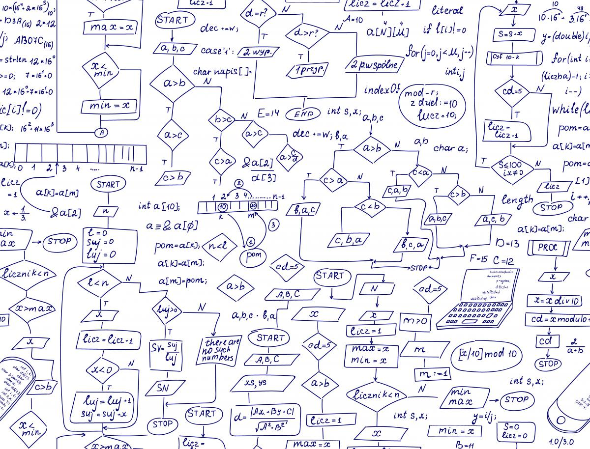 Hand drawn flowchart stock image